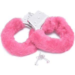 Algema de Metal com Pelúcia Rosa - Fur Love Cuffs