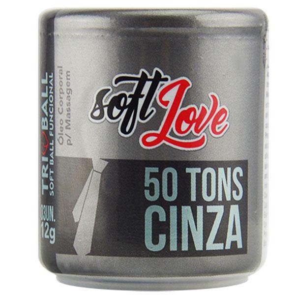 Bolinha Explosiva Triball 50 Tons de Cinza 12Gr 03 Uni Soft Love