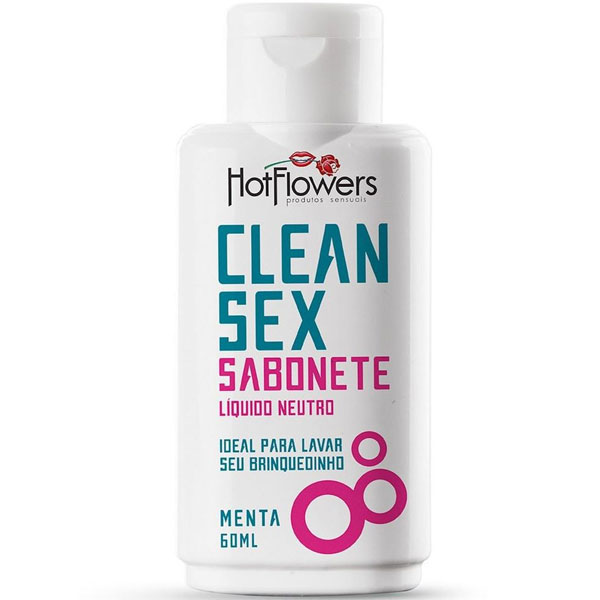 Clean Sex Sabonete Líquido Menta 60 ML Hot Flowers