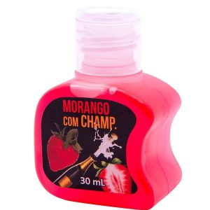 Gel Hot Comestível 30 Ml Soft Love Morango com Champ.